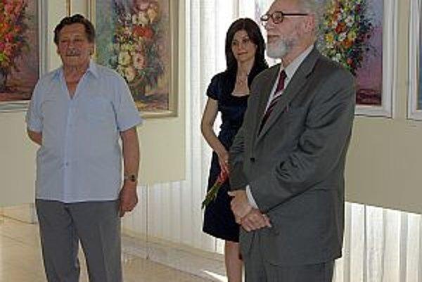 Rojko (vľavo) tvrdí, že to bola jeho posledná výstava.