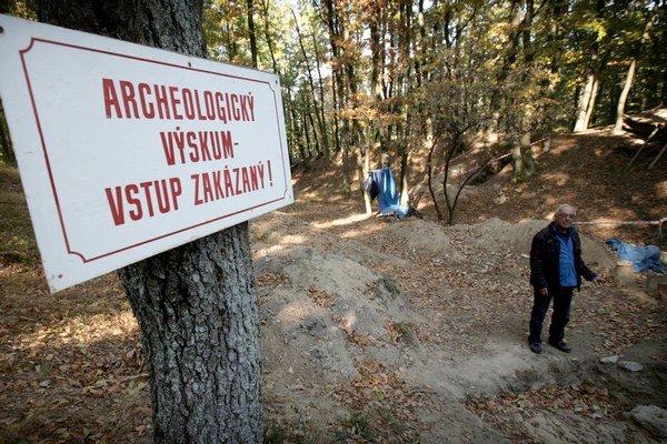 Archeologický výskum pri Bojnej.