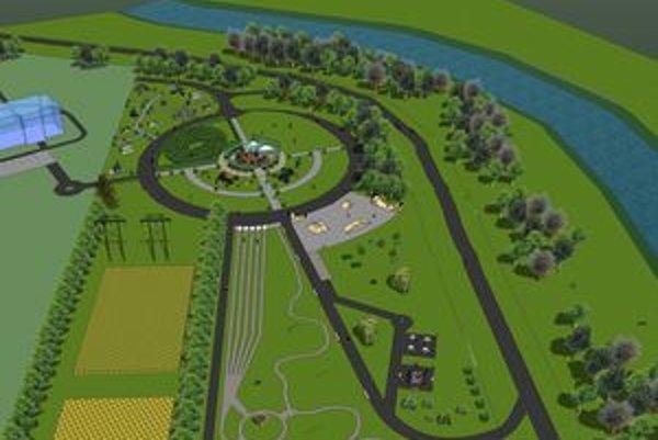 V centre parku bude bufet a za ním prírodný amfiteáter.