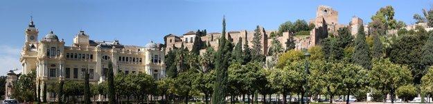 Alcazaba v centre Malagy