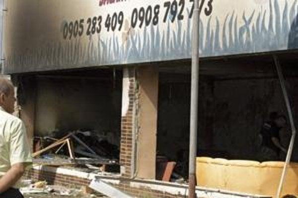Budova, v ktorej bomba vybuchla.