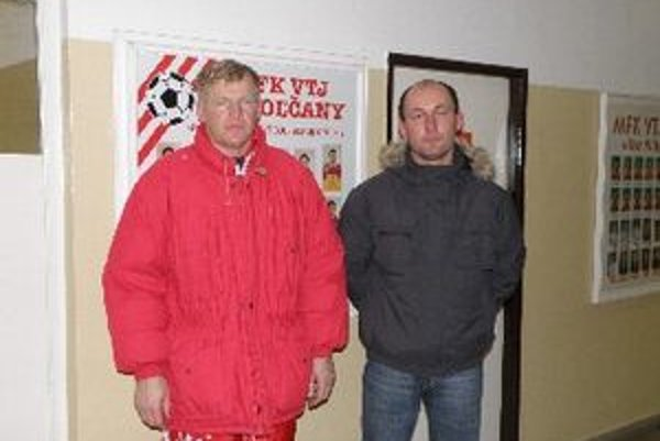 Topoľčany aj do ďalších bojov povedie Dušan Liba (vľavo) a Roman Jakubička.