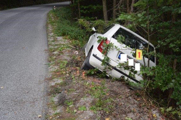 Dopravná nehoda, pri ktorej opitý 53-ročný šofér havaroval v sobotu popoludní medzi obcami Hnilec a Hnilčík v okrese Spišská Nová Ves.