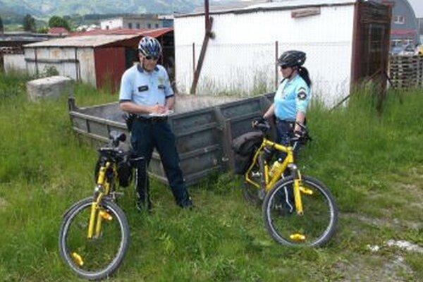 Policajná cyklohliadku je často vídať v odľahlejších častiach mesta.