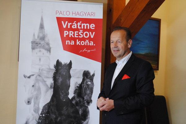 Pavel Hagyari, kandidát na primátora mesta Prešov.