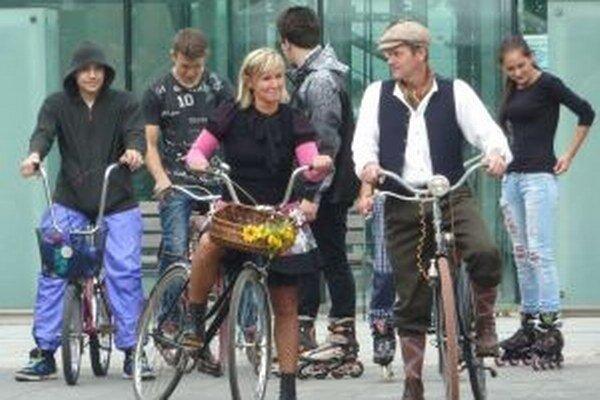 V pešej zóne bolo viacero podujatí na podporu alternatívnej dopravy.