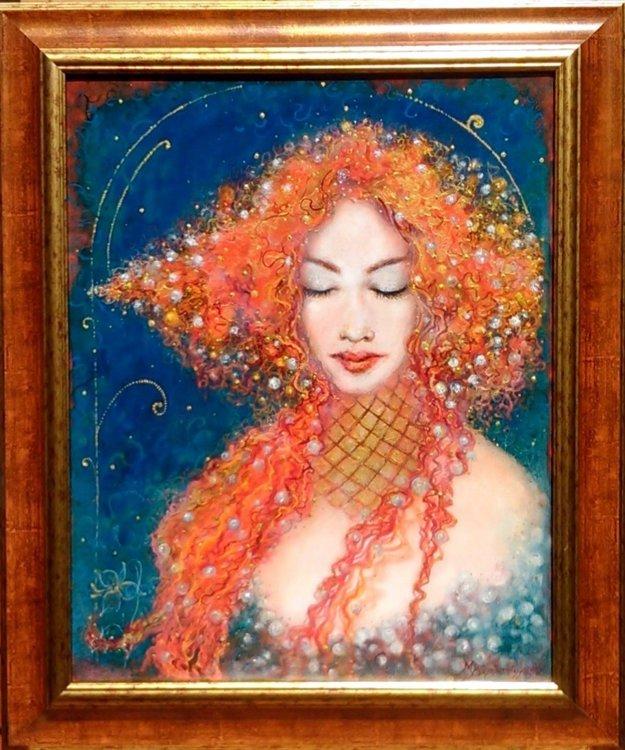 Kráska v perlách je dielo Marcely Böszörményi.