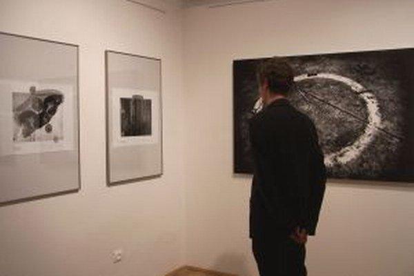 Pohľad o interiéru výstavy.