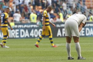 Momentka zo zápasu Inter Miláno - Parma.