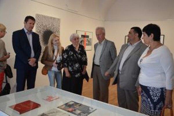 Bieloruská delegácia si pozrela v Turčianskej galérii výstavy.