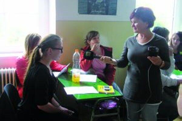 Janka Grajciarová si so žiakmi vyskúšala rôzne cvičenia.