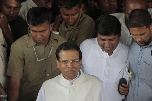 Prezident Srí Lanky Maithripala Sirisena.
