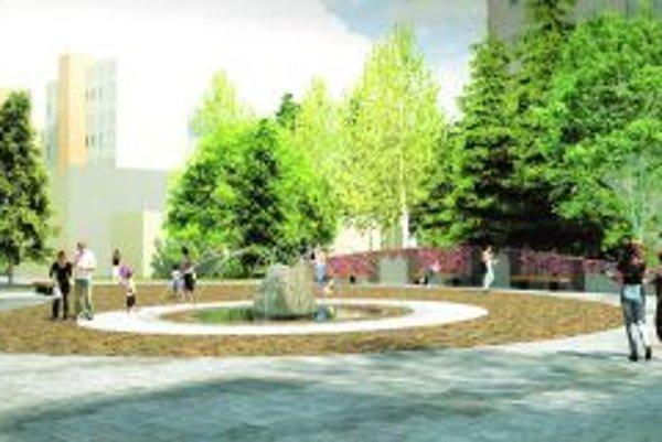 Takto by mala podľa schváleného návrhu vyzerať nová pešia zóna.