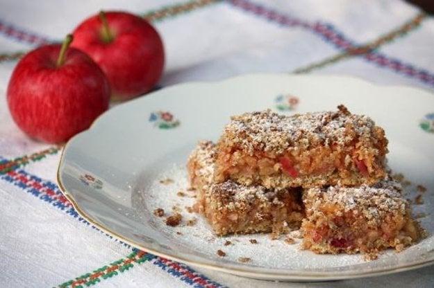Jablkový koláč s ovsenými vločkami