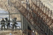 Demilitarizovaná zóna medzi Kóreami.