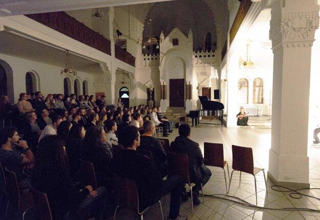 Koncert počas Nitrianskej Bielej noci.