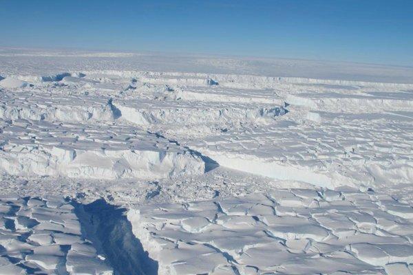 Antarktický ľadovec Thwaites.