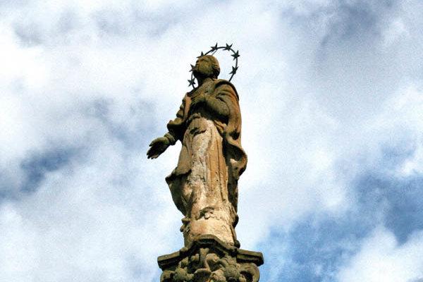 Pôvodný mariánsky stĺp.