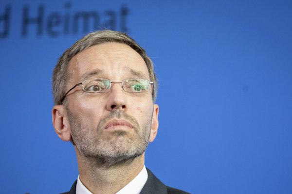 Rakúsky minister vnútra Herbert Kickl.
