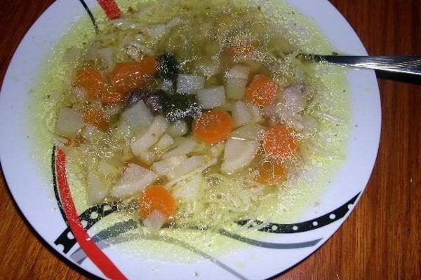 Hovädzia polievka.