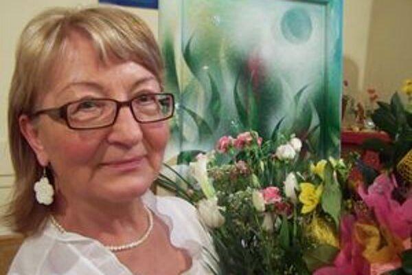 Mária Bajnoková po krste svojej poetickej prvotiny.