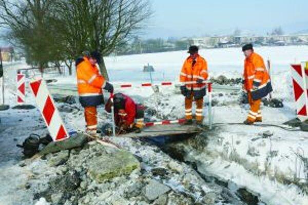 V Kláštore pod Znievom spôsobila ľadová povodeň asi najväčšie škody.