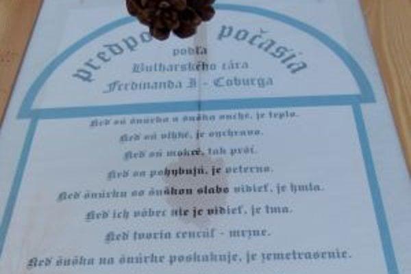 Vtipná predpoveďPred asi sto rokmi ju logicky vydedukoval bulharský cár Ferdindnad Coburgský, ktorý sa zdržiaval na Slovensku.