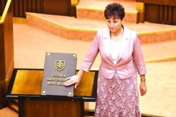 Eva Hufková. Nová poslankyňa zložila sľub minulý týždeň v stredu.