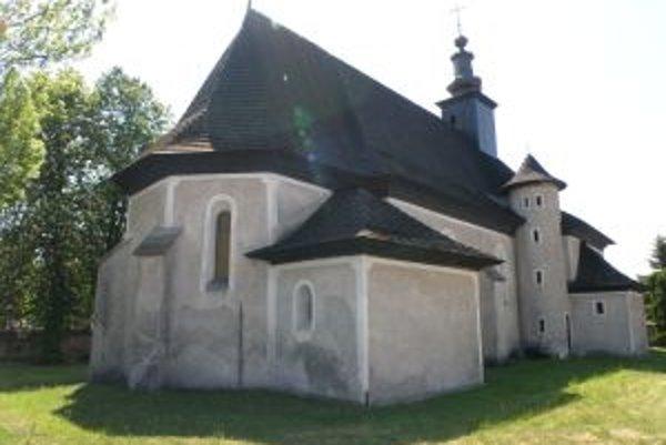 Príbovský kostolík, v ktorom sa odohralo ekumenické podujatie.