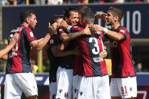 Bologna oslavuje domáce víťazstvo.
