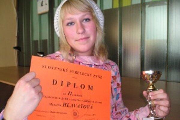 Martina Hlavatová získala na majstrovstvách Slovenska v športovej streľbe striebro.
