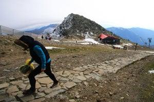 Chopok s Kamennou chatou