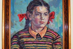 Obraz deväťročného dievčatka, ktorý autor namaľoval počas vojenskej služby.