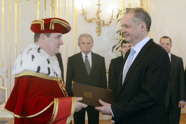 Rudolf Kropil a prezident Andrej Kiska.