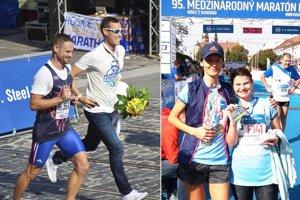 Vľavo bratia Michal a Matej Tóthovci. Na druhej snímke je Jana Kleskeňová (vľavo) s Kornéliou Holúbekovou.