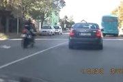 Želiezovce: Motorkár porušil dopravné predpisy.