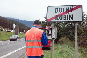 Kontrola zariadenia na sčítanie vozidiel.