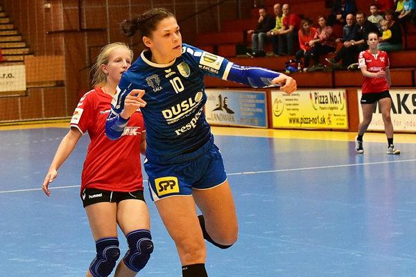 Krídelníčka Katarína Pócsíková strelila do plzenskej siete osem gólov.