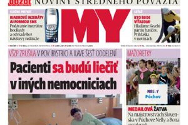 Titulná strana nového čísla.