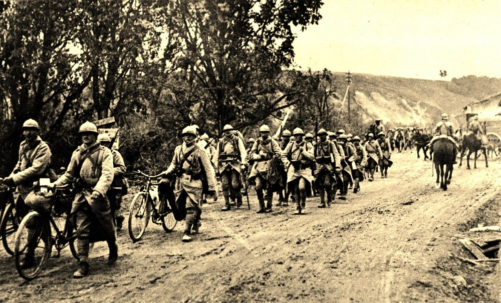 Príslušníci brigády československých légií vo Francúzsku v roku 1918.