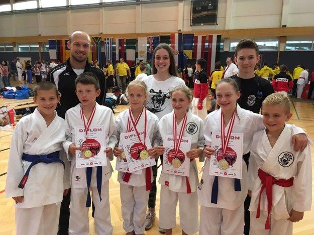 Karate klub Kumade Topoľčany vo Viedni.