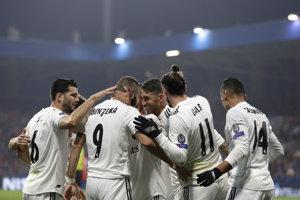 Gólová radosť hráčov Realu Madrid.