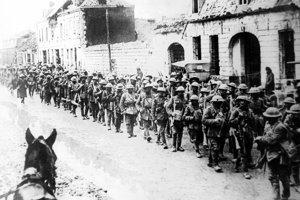 Britskí vojaci v bitke pri Ypres.