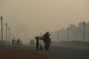 Znečistenie ovzdušia v Naí Dillí.