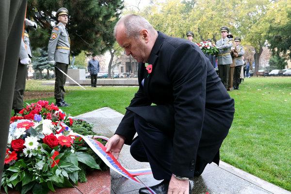 Minister Peter Gajdoš si uctil veteránov.