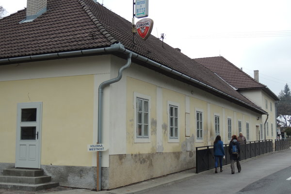 Kultúrny dom vo Svätom Antone, v ktorom zriadili volebnú miestnosť.