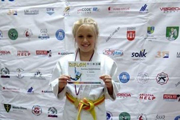Na snímke víťazka 41. ročníka turnaja Olympijských nádejí vo váhe do 42kg - Karinka Radošinská.