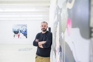Erik Šille na výstave Čierny melón