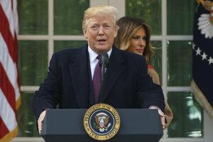 Donald Trump s manželkou Melaniou.