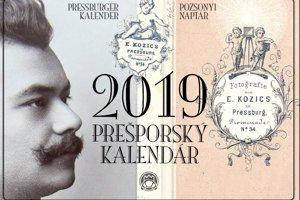 Titulná strana kalendára s unikátnymi fotografiami Bratislavy.
